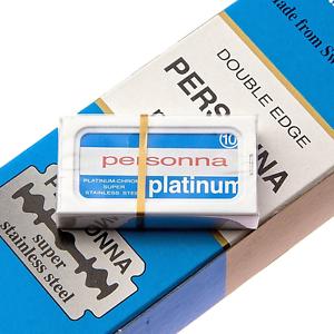 PERSONNA-Platinum-Chrome-Stainless-Double-Edge-Razor-Blades-Safety-DE