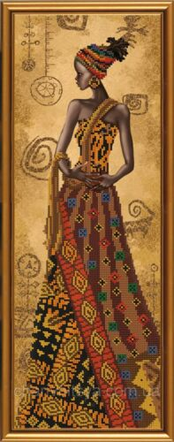 New Bead Embroidery Kit Mysterious African by Nova Sloboda Manufacture
