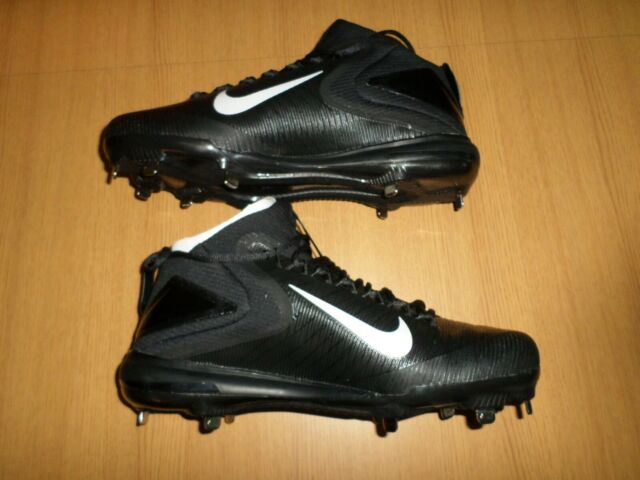 84bd592918b NEW Nike Force Air Trout 3 Metal Baseball Cleats Black White Mens SIZE 12