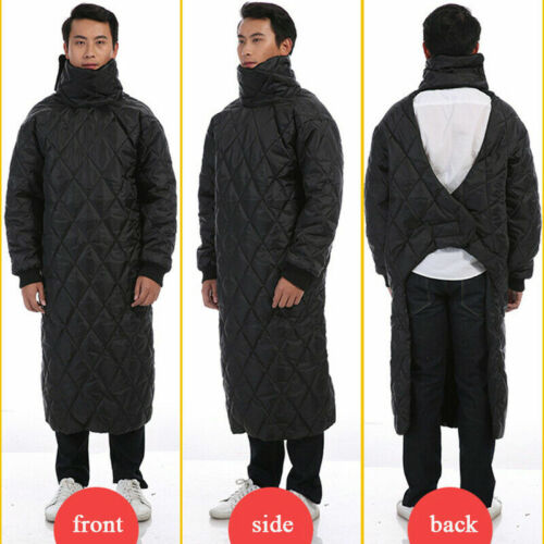 Winter Motorcycle Bike Windproof Poncho Coats Padded High Neck Warm Outdoor