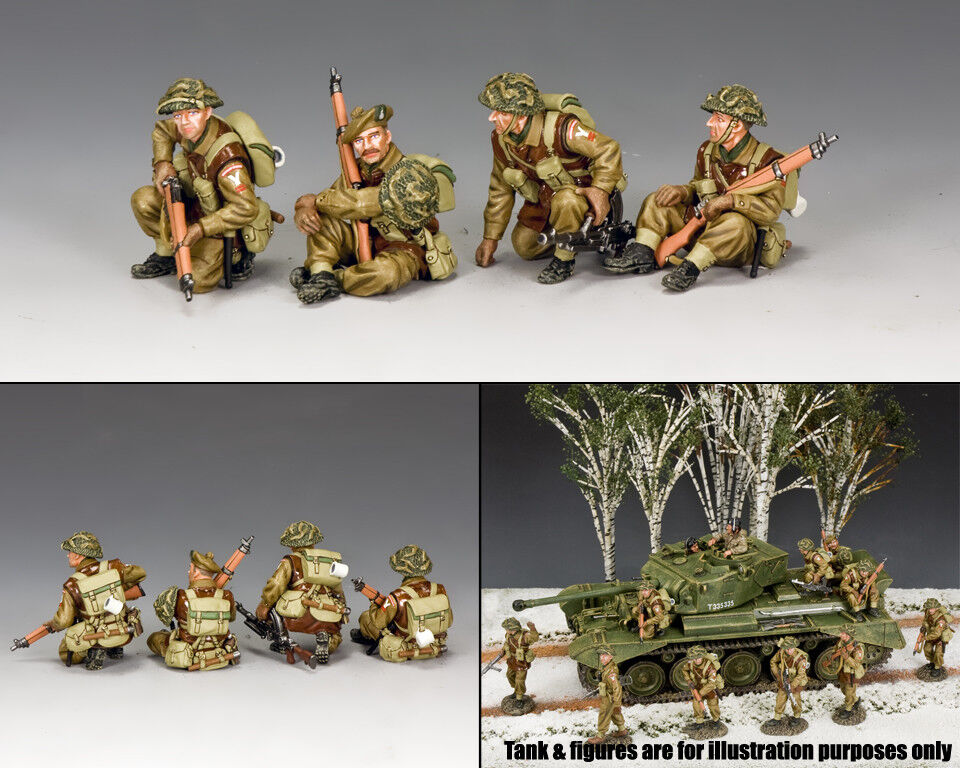 KING & COUNTRY BATTLE OF THE BULGE BBB002 BRITISH TANK RIDERS SET MIB