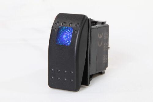 # 2 piezas Marina barco Rocker Switch on-off unipolar solo tiro 3 Pin 1 Azul LED Coche RV Motocicleta