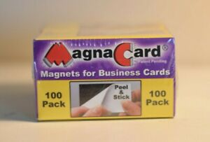 Business-Card-Magnets-100-Pack-Peel-and-Stick-Magna-Card-Inc-MC-100-NEW