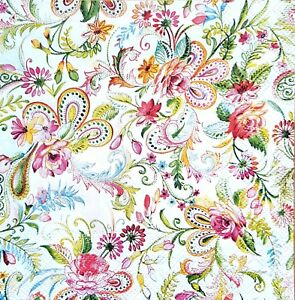 4 Lunch Paper Napkins For Decoupage Craft Vintage Napkin Flowers