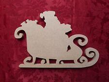 MDF Wooden Santa's Sleigh 2 Christmas Decoration