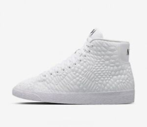 Wmns Nike Blazer Mid D MB QS UK 8 EUR 42.5 Bianco Bianco 819140100 NUOVO