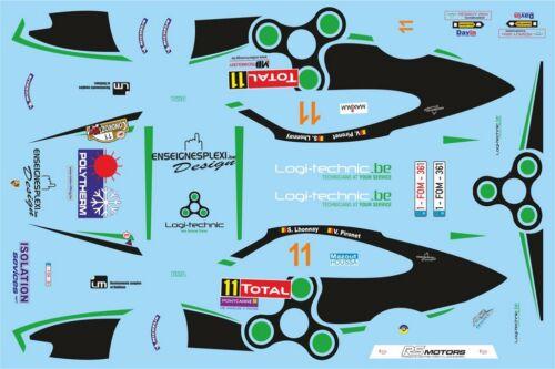 Decals 1//43 porsche 911 #11 lhonnay-rallye du condroz 2013-d43415