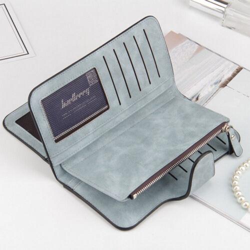 Women Leather Small Mini Wallet Card Holder Zip Coin Purse Bifold Clutch Handbag