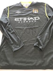 Maillot-Football-Manchester-City-Signed-Joe-Hart-Saison-2011-12-Premier-League