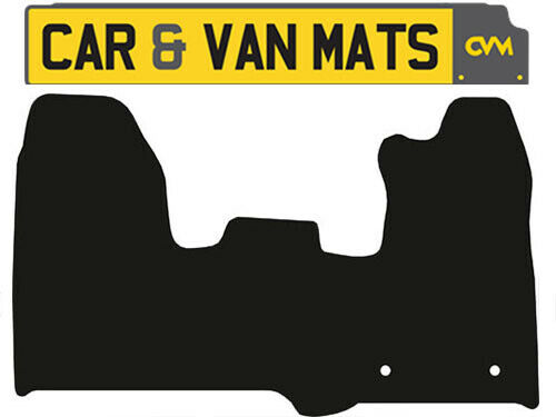 Tailored Black Carpet Car Floor Mats Ford Transit Custom Van Year 2013 To 2015