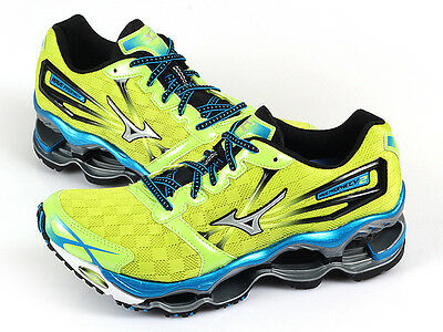 low priced e4105 bd903 Mizuno Wave Prophecy ∞ 2 Lime/Silver/Blue Lightweight Running Top  8KN-316100 | eBay