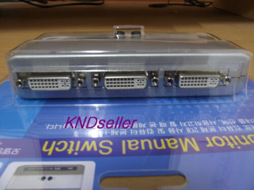 DVI 2 Port 2:1 Manual Switcher Selector Switch Box single-mode TV LCD Monitor