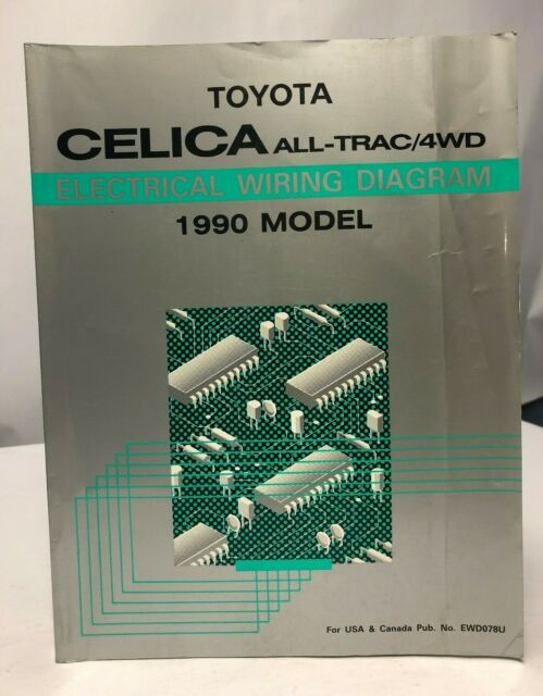 1990 Toyota Celica All-Trac/4WD OEM Electrical Wiring ...