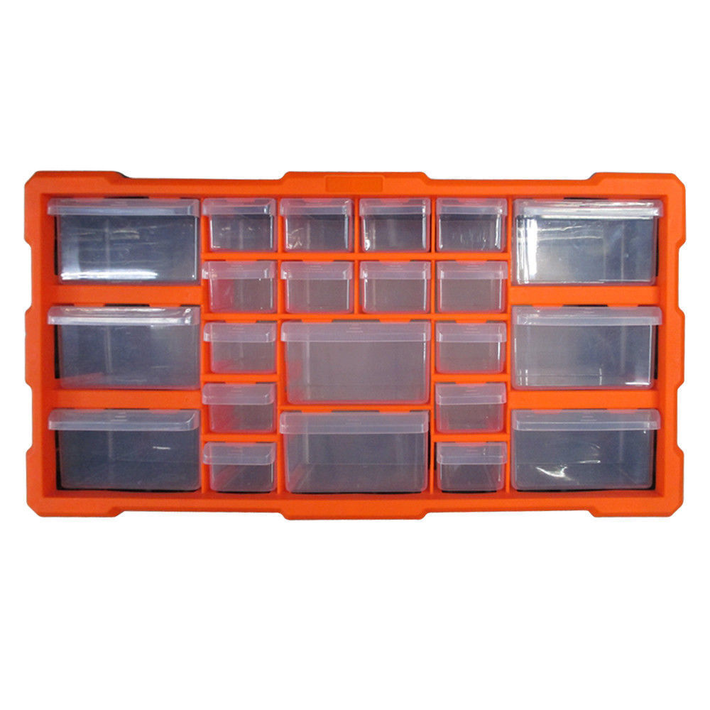 Double Storage 22 Drawer Cabinet Multi Unit Workshop Handy Crafts Organizer Box