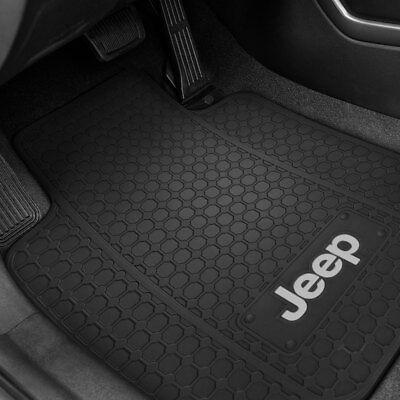 Jeep Wrangler 4 Pc All Weather Carpet Floor Mats JEEP Logo fits 2011-2013 2 Door