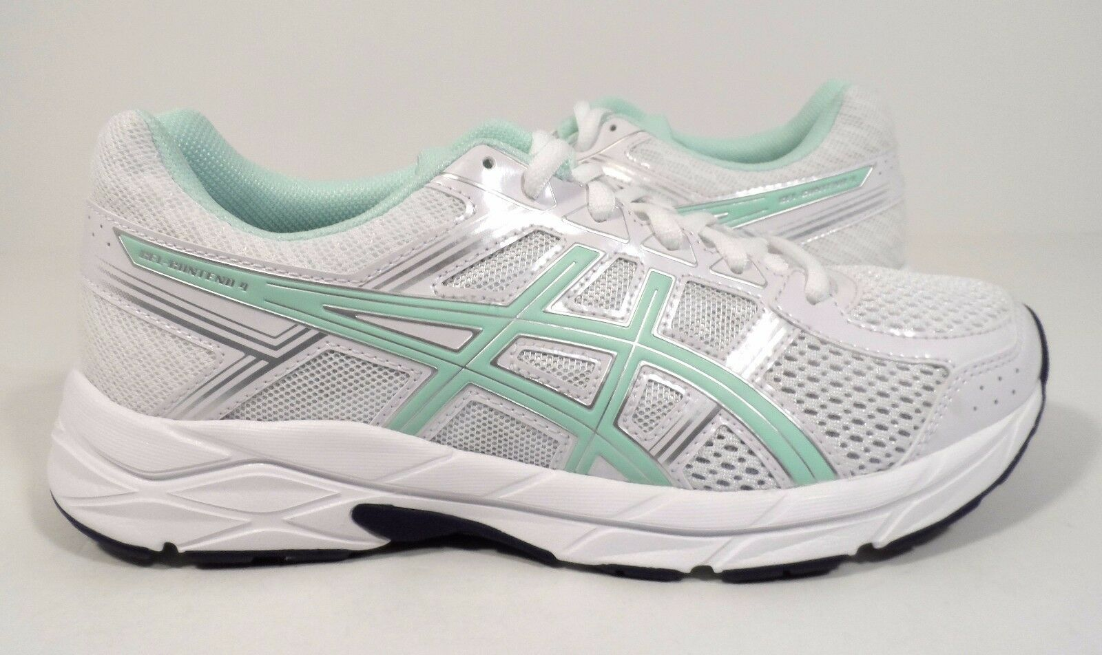 ASICS Women's Gel-Contend 4 Running shoes, White Bay Silver, 11 M US