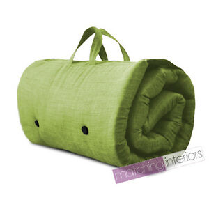 Image Is Loading Lime Travel Guest Sleepover Single Mattress Roll Up