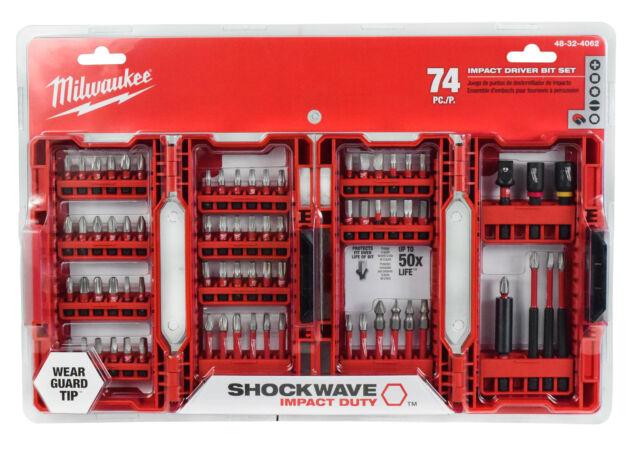 48-32-4495 Milwaukee SHOCKWAVE Impact Duty Steel Driver Bit Set 70-Piece