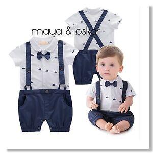 6b7322a566b Baby Boys Navy Summer Party Wedding Smart Outfit Tuxedo Sailor ...