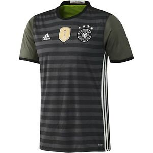 Details about adidas Germany UEFA Euro 2016 Away Reversible Soccer Jersey Brand New Gray