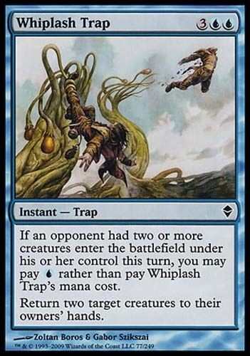 4x Whiplash Trap Zendikar MtG Magic Blue Common 4 x4 Card Cards