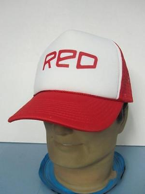 US SNOWBOARDING red//white flat brim Snapback trucker hat New Old Stock