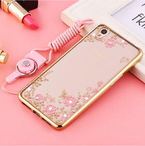 sports shoes bd357 ba373 For OPPO A37/ A37M Luxury Flower Diamond Case Soft Bumper Plating ...