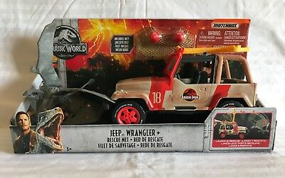 MATCHBOX Jurassic World Lost Kingdom Jeep Wrangler /& Rescue Filet véhicule Playset