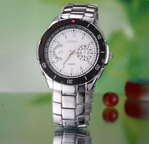 ROSRA Homme Montre-bracelet avec Acier Inoxydable Bracelet Analogique rw005