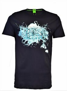 BNWT HUGO BOSS NAVY BLUE WATER SPLASH PRINT T-SHIRT MAGLIETTA ... ddaa3c8f687e6