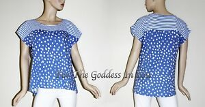 dc3190cce160da T309 WESTBOUND BLUE WHITE STRIP AND LEOPARD KNIT TOP WOMENS PLUS ...