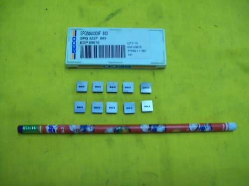 10 NEW SPG 322 CARBIDE INSERTS indexable mill lathe cnc turning tool