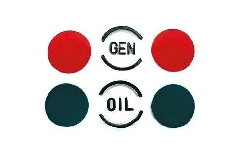 57 Chevy Dash Indicator Lenses /& Color Insert Set