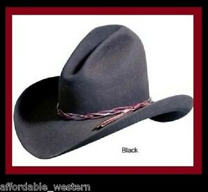 BLACK-GUS-HAT-4X-Quality-Felt-Rodeo-King-Cowboy-Western-Lonesome-Dove