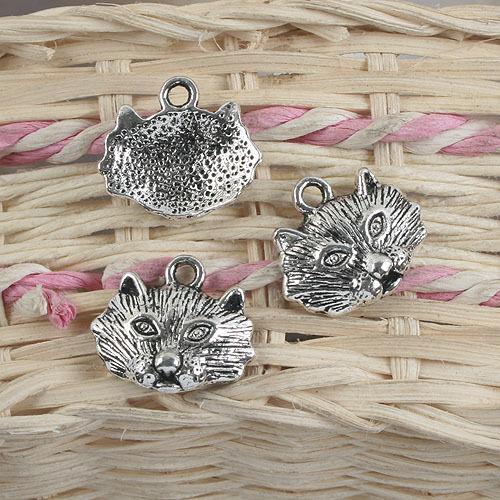 8pcs antiqued silver leopard design pendant charm G892
