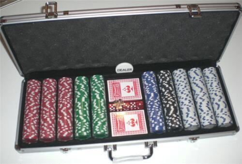 Aluminum Case 11.5 Gram 500 Piece Poker Chips Set