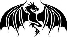 """TRIBAL DRAGON OTHER Vinyl Decal Sticker-6"""" Wide White Color"""