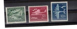DR Mi Nr. 866 - 868 **, 25 Jahre Luftpost Deutsches Reich 1944, postfrisch super