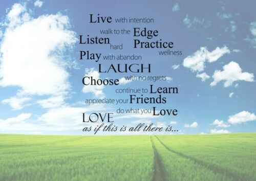 Live With Intention Poster Beautiful Inspiration Quote Picture Nature Beautiful