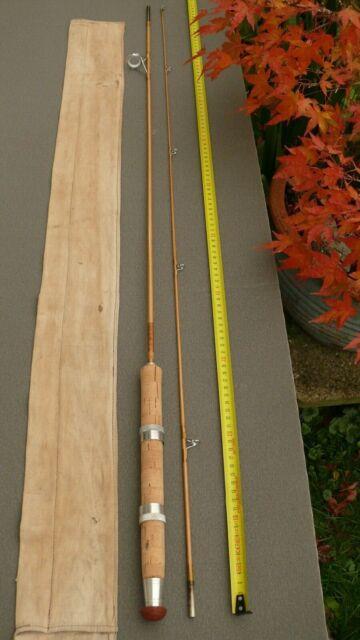 Regnault Bambou refendu canne à pêche Lancer léger au leurre et moulinet ancien