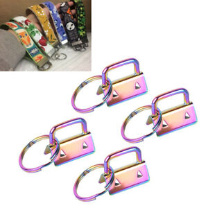 4Pcs-Key-Fob-Hardware-25mm-keychain-Split-Ring-Wrist-Wristlets-Cotton-Tail-Clip