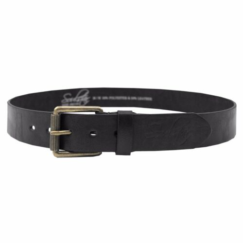 Soulstar Leather Brass Buckle Belt  Mens Size