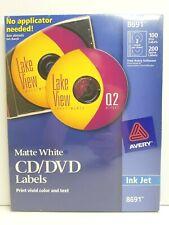 Avery Inkjet Cd Dvd Matte White Labels 8691 Custom Design Jewel Case Inserts New
