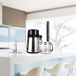 1 Gallon Home Water Distiller Machine Stainless Steel 750W 1.5L/H Purifier