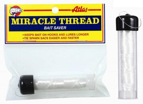 Atlas Mike/'s Miracle Thread Bait Saver 100/' Feet Roll Spool With Dispenser Clear