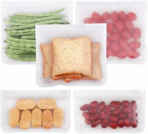 Reusable-Sandwich-amp-Snack-Bags-Eco-friendly-5-Pack-extra-thick