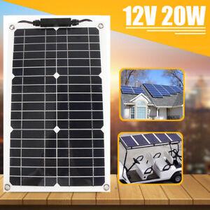 20w 12v panneau solaire semi flexible chargeur de batterie pour voiture bateau ebay. Black Bedroom Furniture Sets. Home Design Ideas