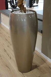 bodenvase skulptur vase xxl 100 cm x 50 cm beige metallic deco dekoration ebay. Black Bedroom Furniture Sets. Home Design Ideas