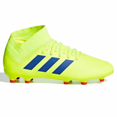 ADIDAS Kids nemeziz 18.3 Childs FG Chaussures De Football Ferme Sol Lacets Maille Haut