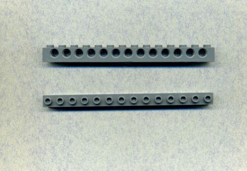 32018 2 piezas Lego 13 agujeros 1 x 14 gris//dkstone agujero vigas